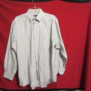 Dockors Men,s Gray Pin Stripped Shirt Size 16.5 33